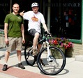 Ben Witt and Griff Wigley with a Gary Fisher X Caliber at Milltown Cycles in Faribault, MN